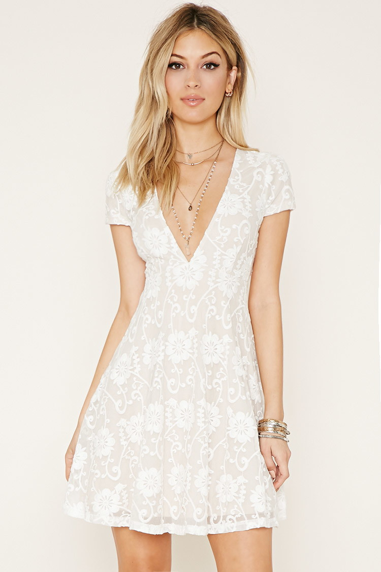 1d731244c59 White Lace Summer Dress Forever 21