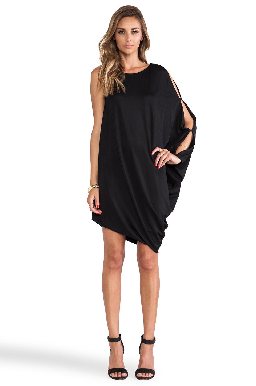 c9aad6c3b91d2 Lyst - BCBGMAXAZRIA Michaela One Sleeve Dress in Black