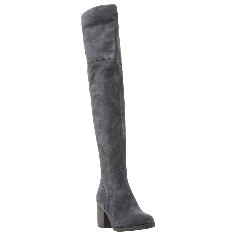 0e7f0b5a47b Steve Madden Octagon Block Heel Over The Knee Boots in Blue - Lyst