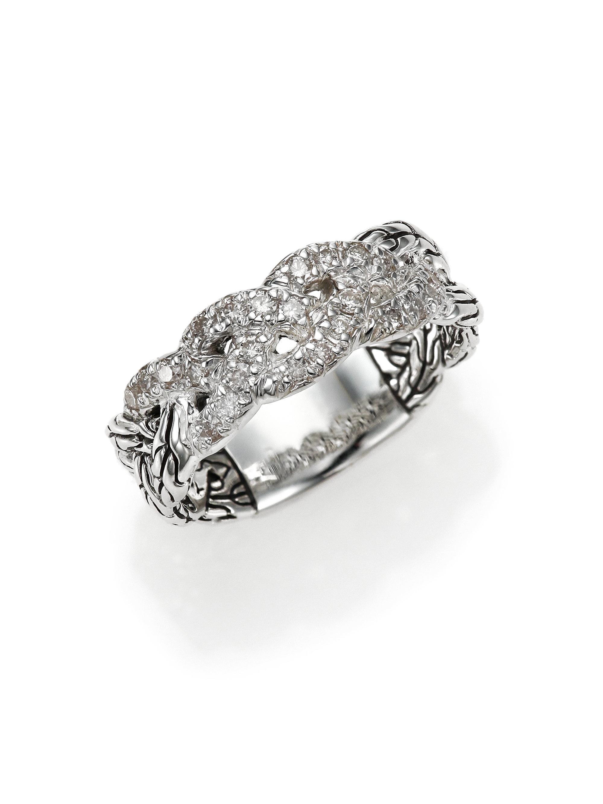 John Hardy Classic Chain Diamond Amp Sterling Silver Braided