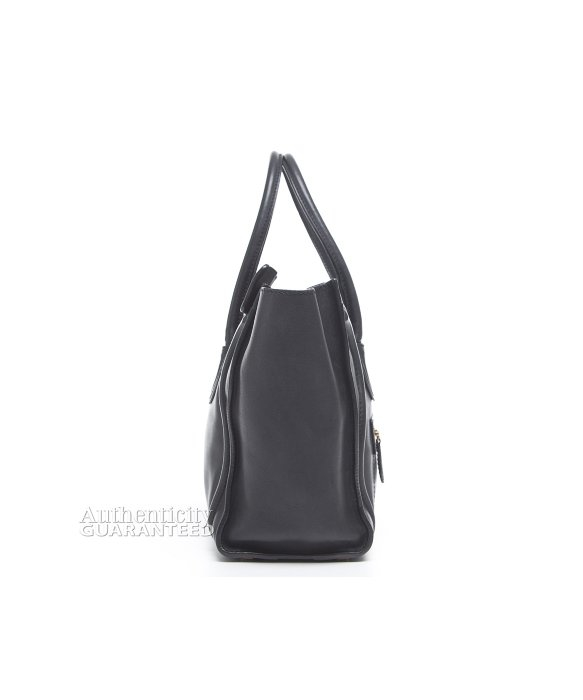 knockoff celine bags - Celine Black Calfskin Micro Luggage Tote Bag