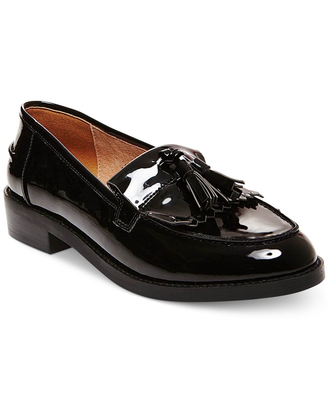 Steve madden Women's Meela Lug Tassel Loafer in Black | Lyst