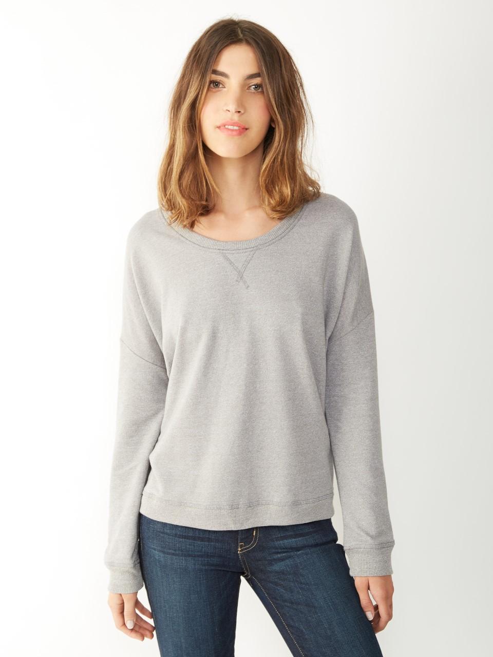 Alternative apparel sunset eco mock twist crew sweatshirt for Mock crew neck shirts