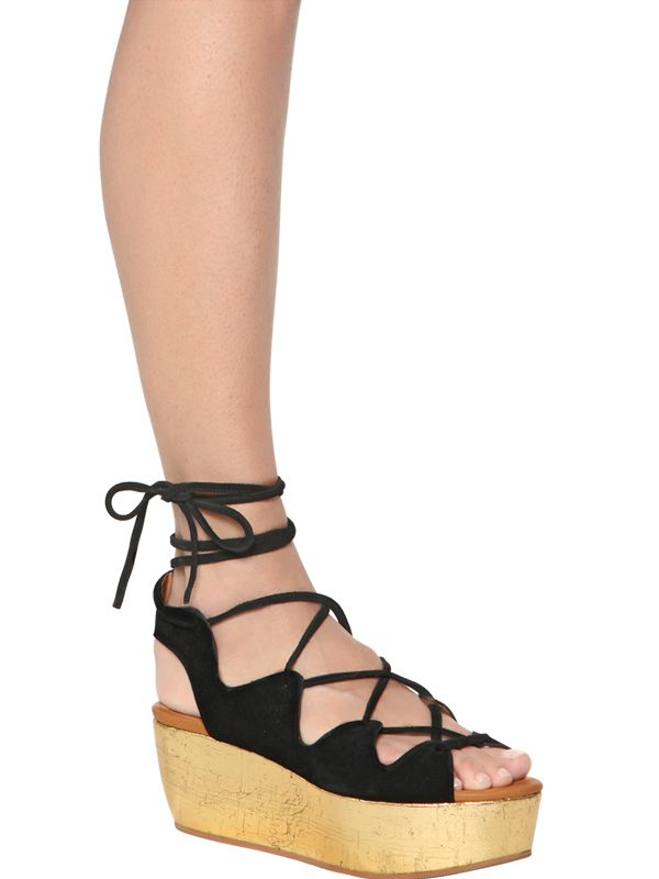 sale cheap online See by Chloé Lace-Up Flatform Sandals excellent cheap price outlet recommend MbyeDvyg
