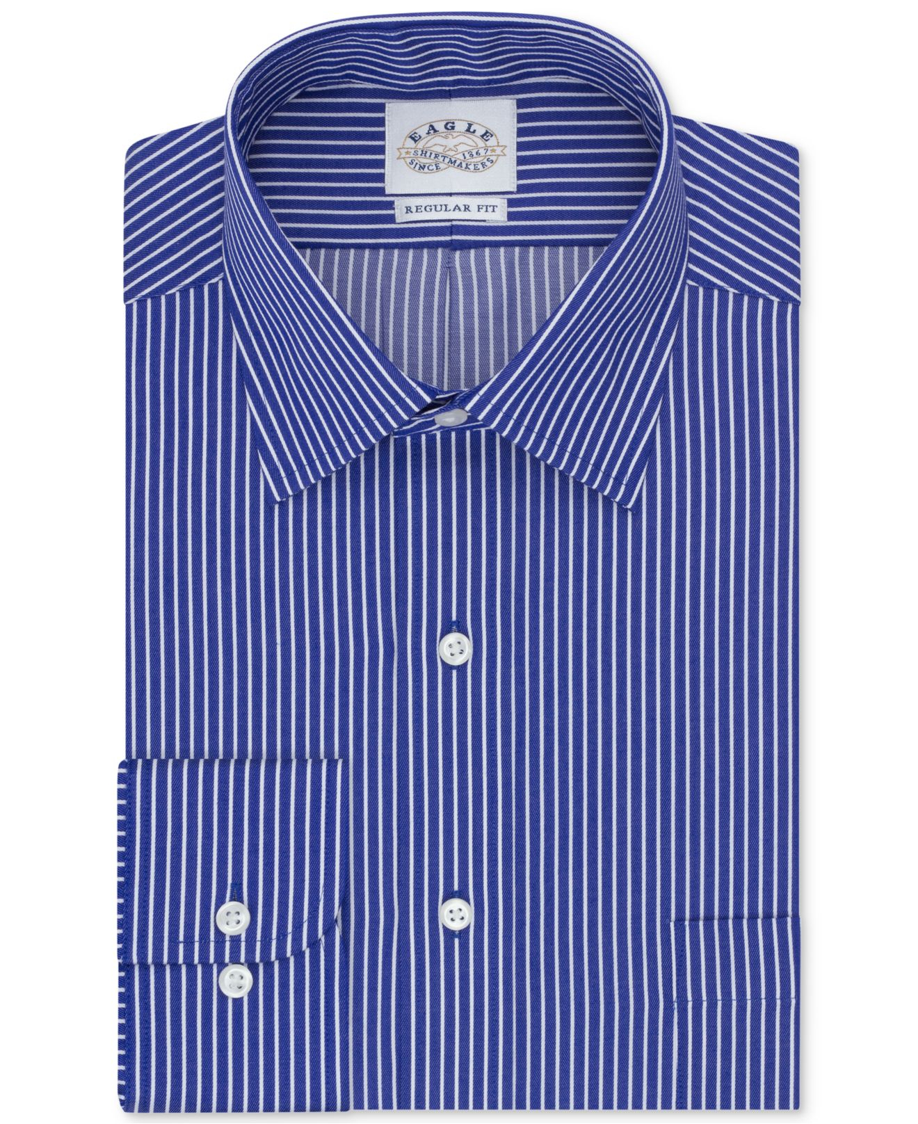 Eagle Non Iron Big And Tall Yacht Club Blue Stripe Dress