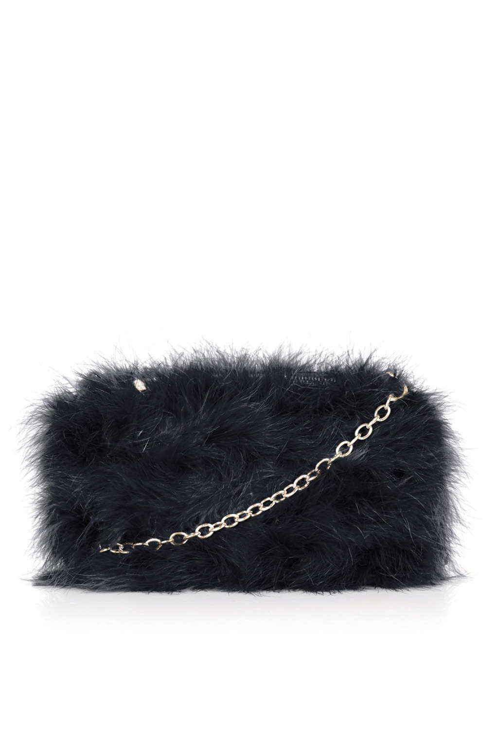 TOPSHOP Real Feather Marabou Bag in Black - Lyst d202eacd373c5