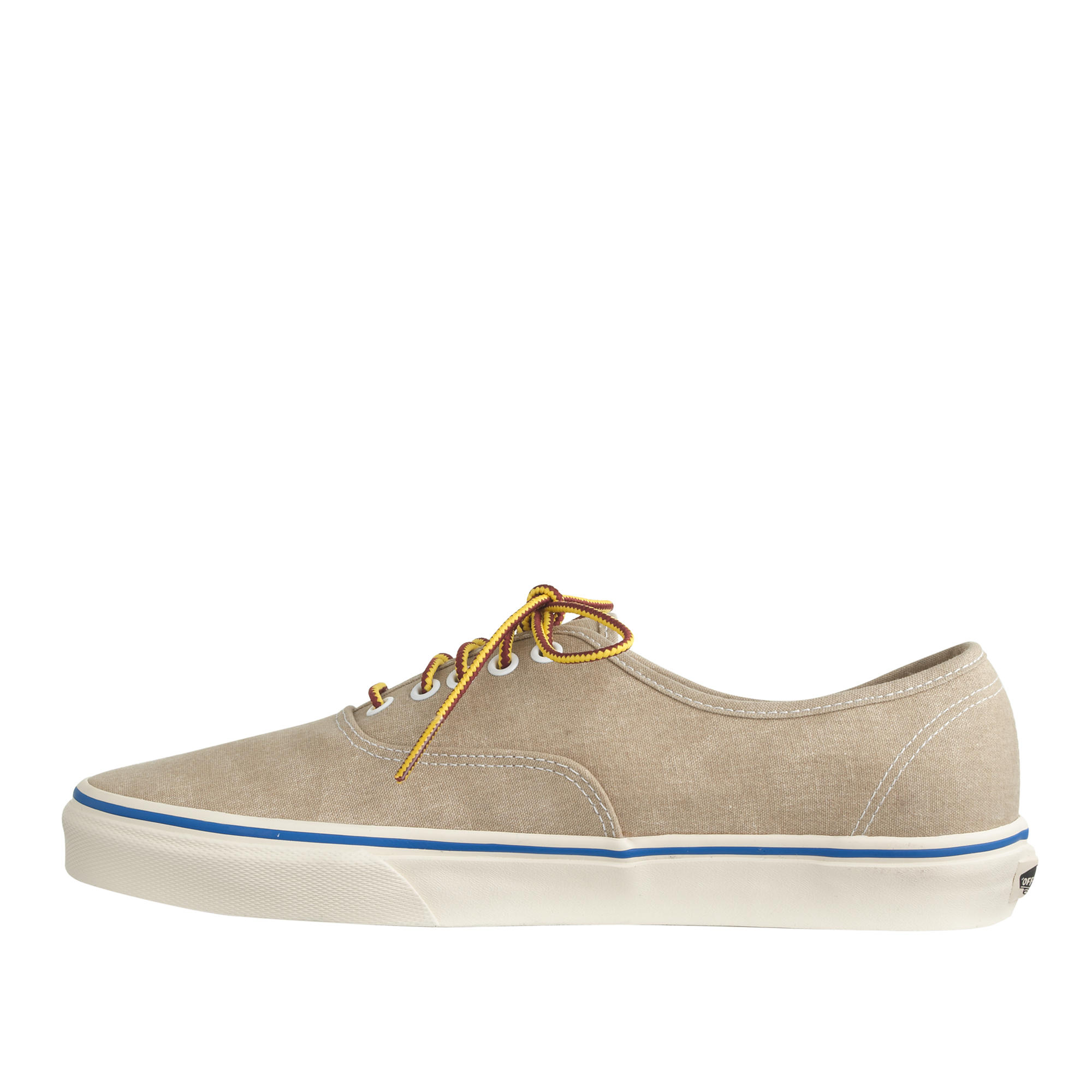 j crew vans washed canvas authentic sneakers in