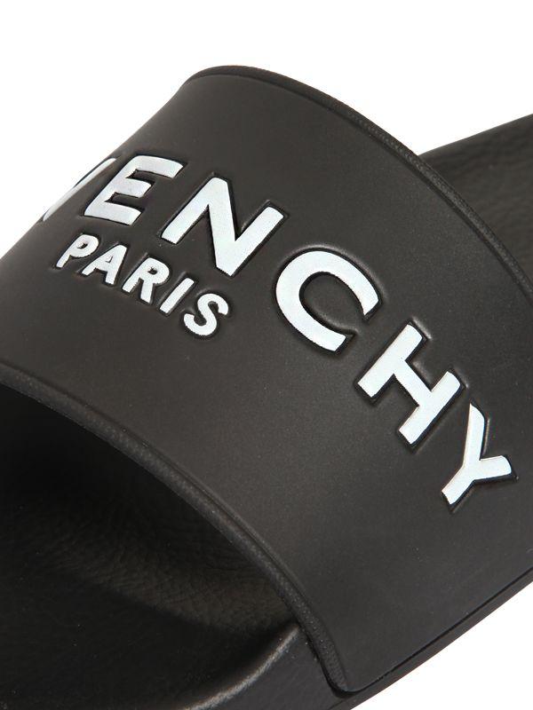 Lyst Givenchy 20mm Logo Embossed Rubber Slide Sandals In