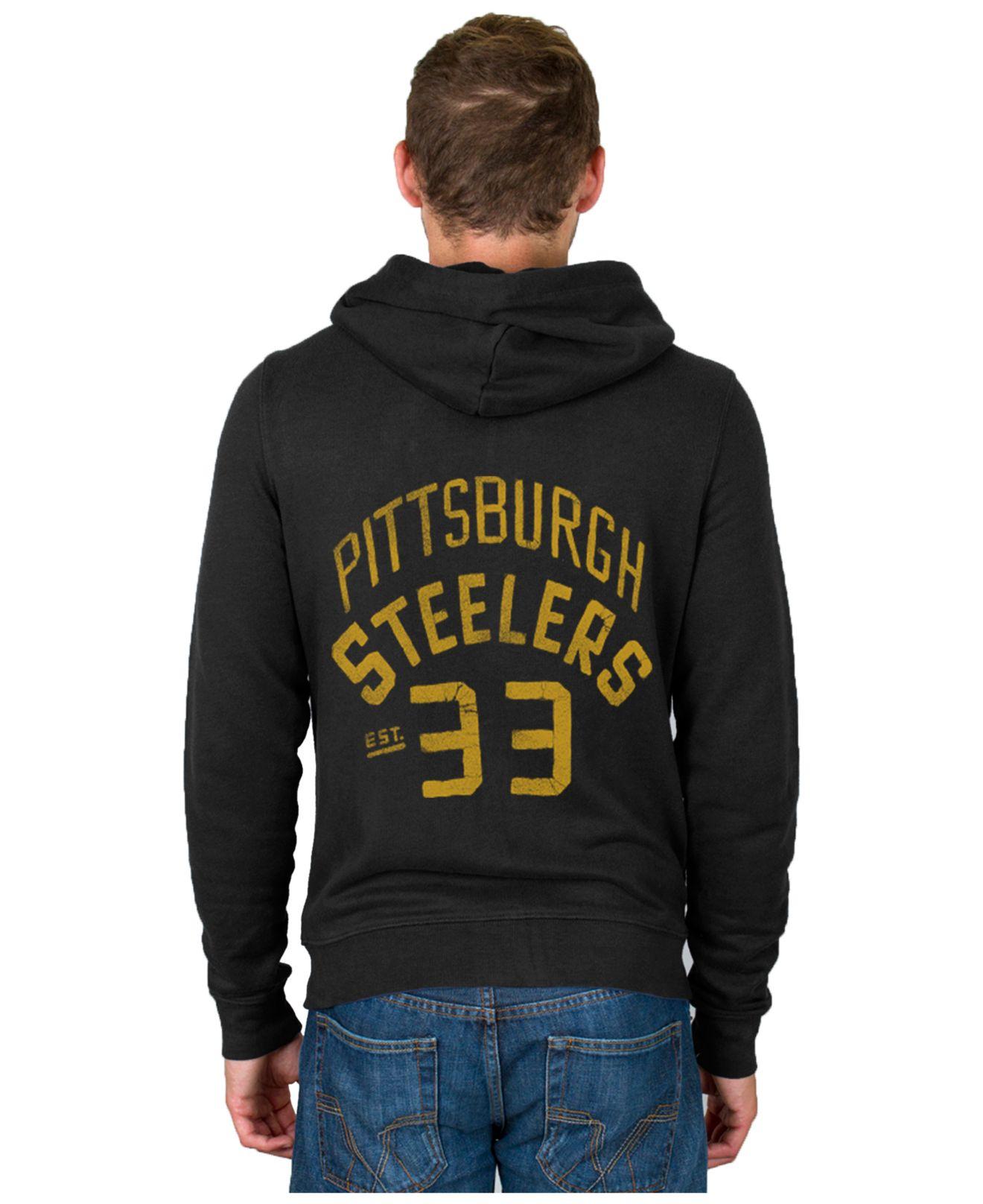 e39d69bdb Lyst - Junk Food Men s Pittsburgh Steelers Sunday Hoodie in Black ...