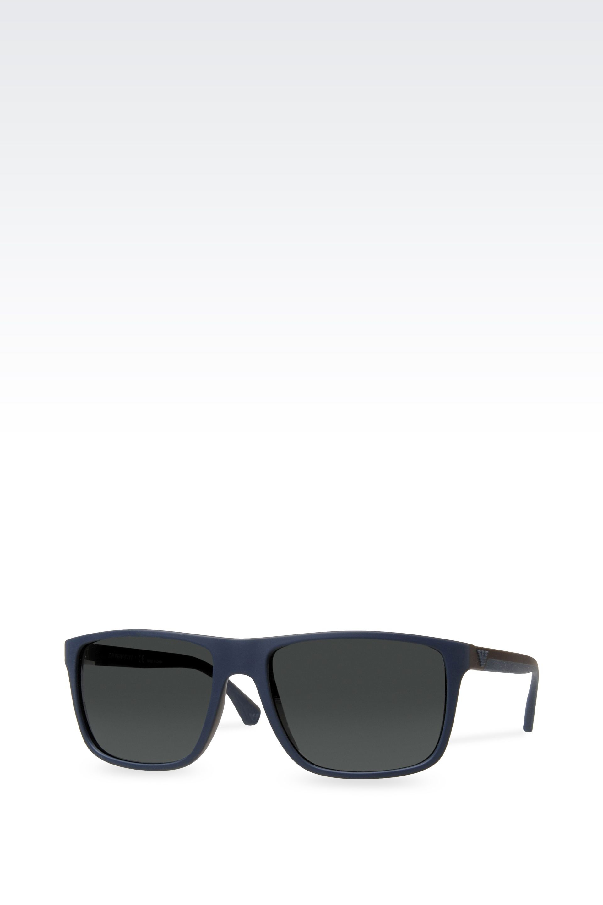 b0bee738b2b3 Lyst - Emporio Armani Acetate Sunglasses With Rubber Details in Blue ...