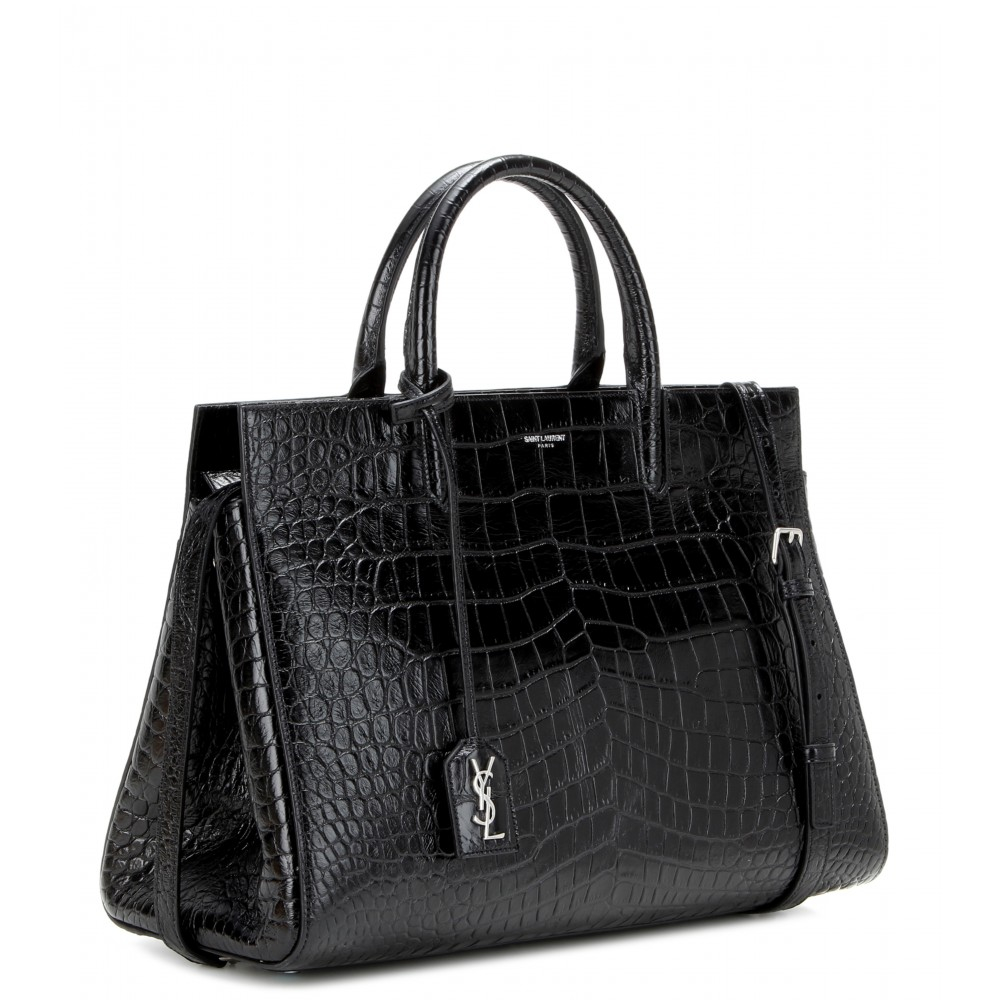 yves saint laurent embossed leather tote