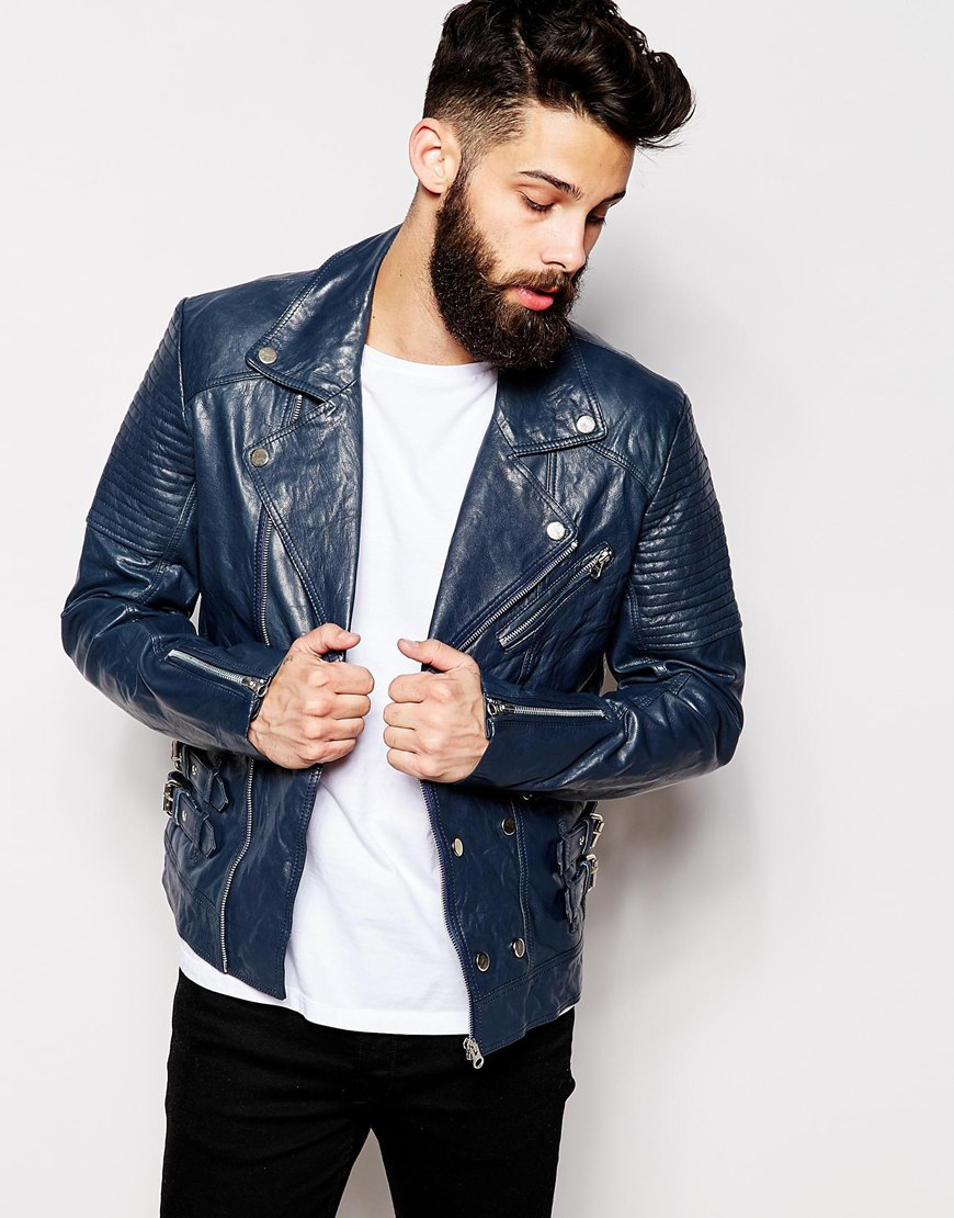 asos mens leather biker jacket review