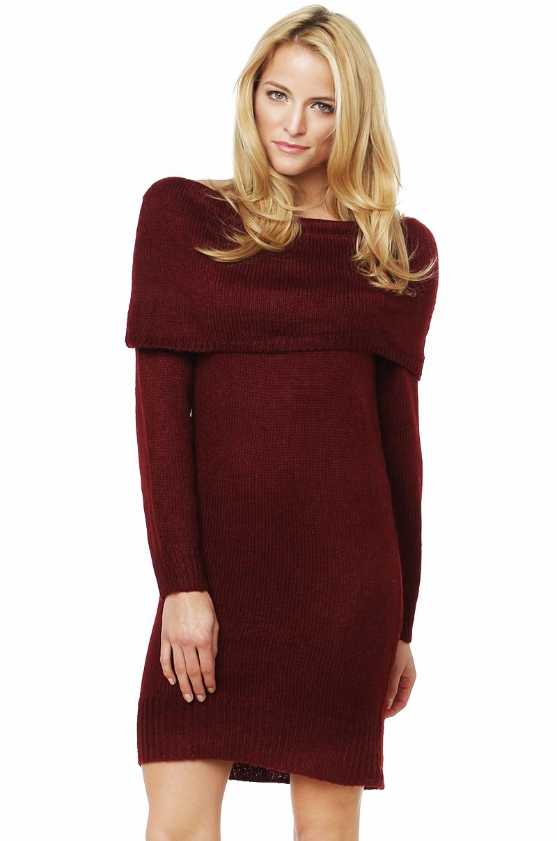 Lyst - Akira Off The Shoulder Sweater Dress in Purple