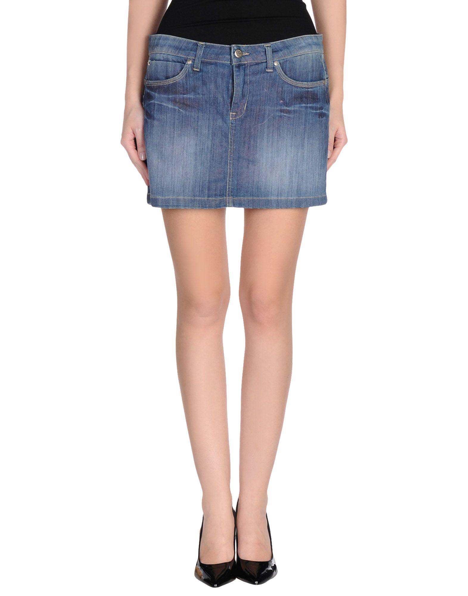 nana denim skirt in blue lyst