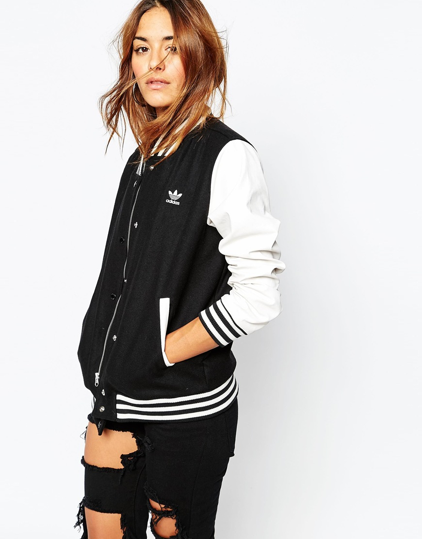 19bf0179cade Women s Draped Front Jackets ... adidas Originals Women s Styling  Complements Bomber ...
