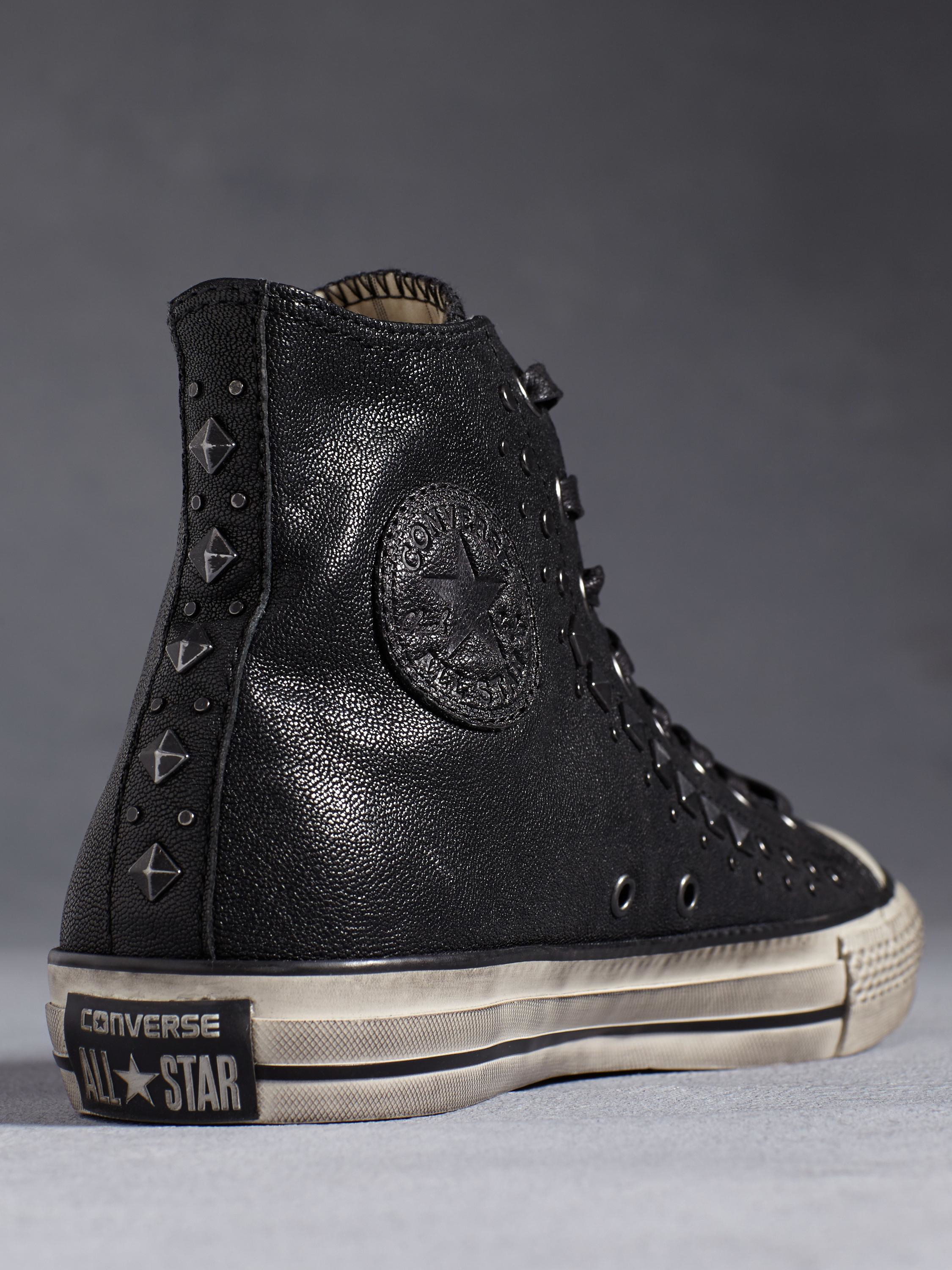 9deeebcdc21f ... Lyst - John Varvatos Chuck Taylor Studded High Top in Black for Men ...