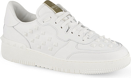 c0367b6bc48a Valentino Rockstud Basketball Trainers In White For Men Lyst