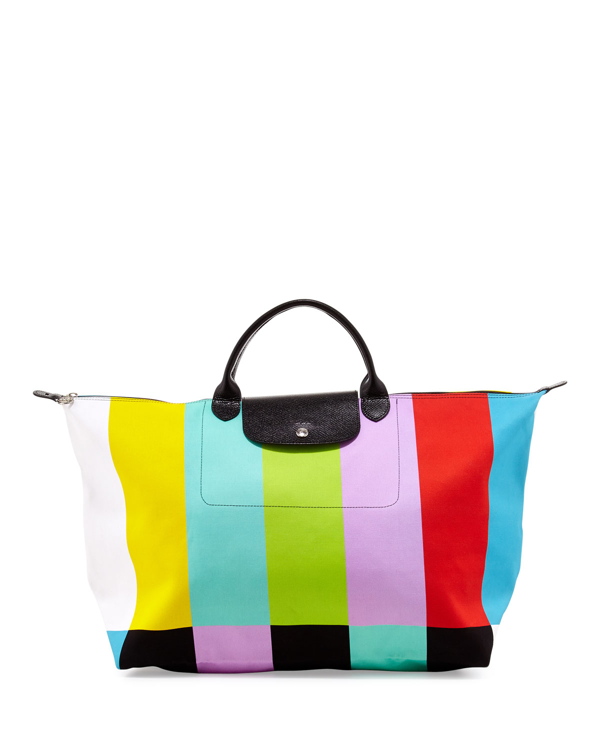 Longchamp Bag Le Pliage Colours : Longchamp le pliage color bar canvas travel bag lyst