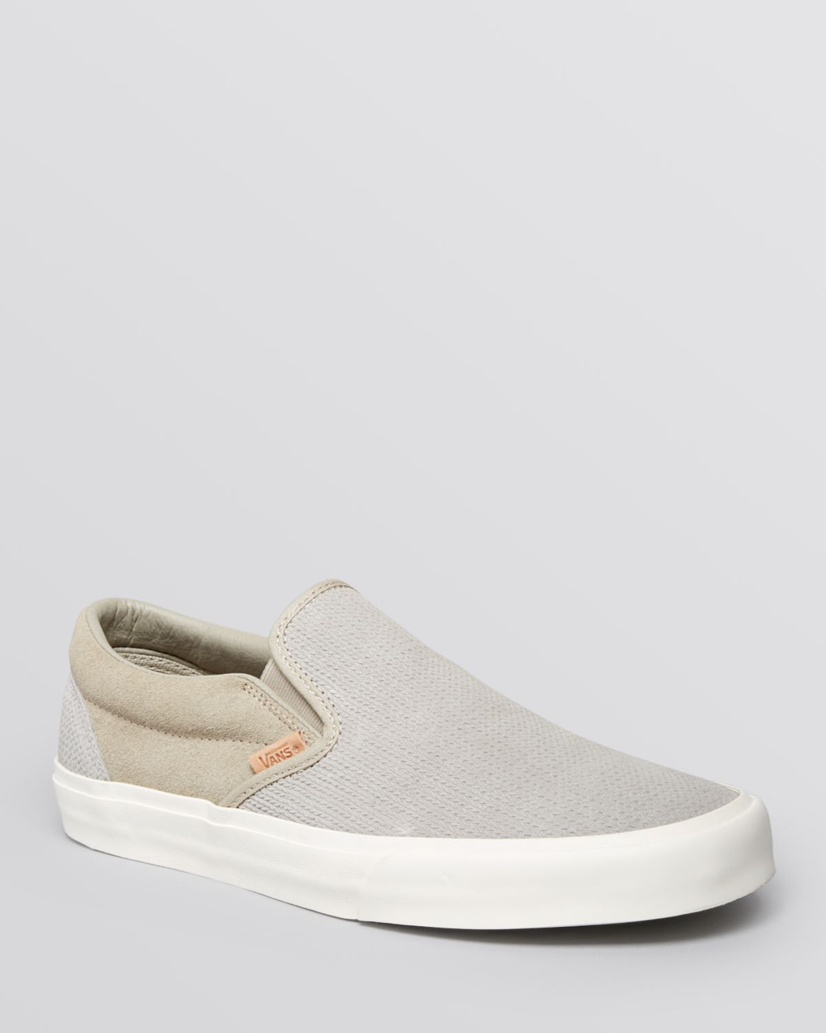 a303f16a6d Lyst - Vans Classic Ca Knit Suede Slip On Sneakers in Gray for Men