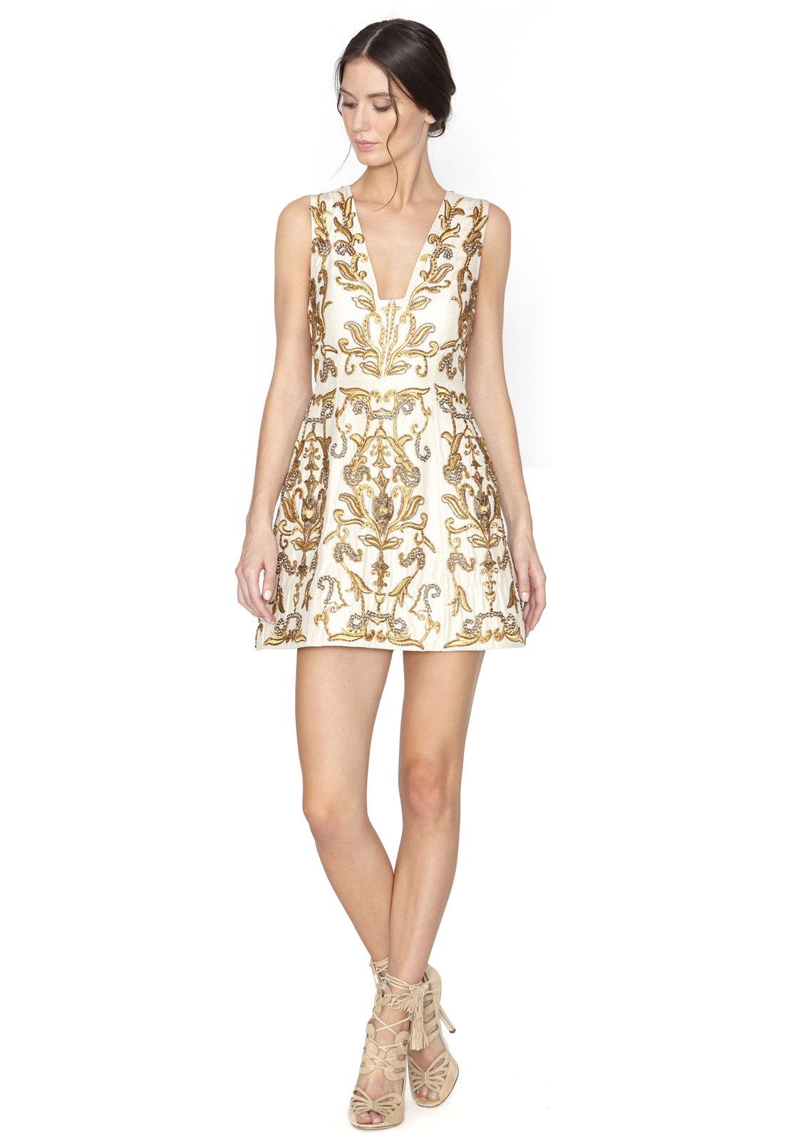 Alice   olivia Prescilla Embellished Dress in Metallic  Lyst