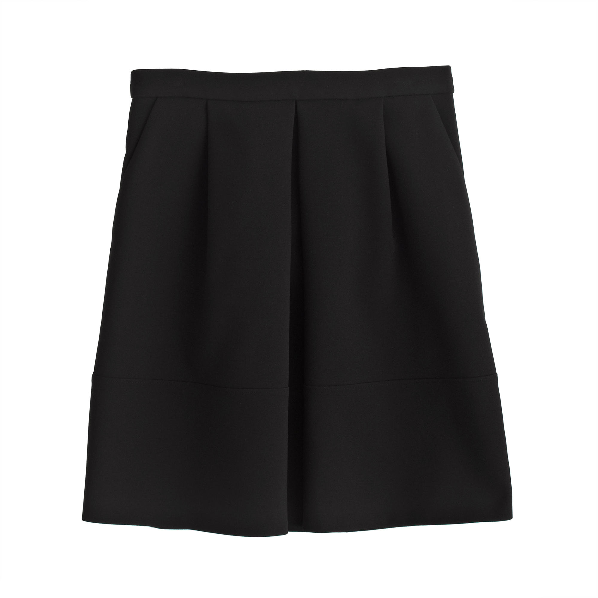 j crew pleat front mini skirt in black lyst