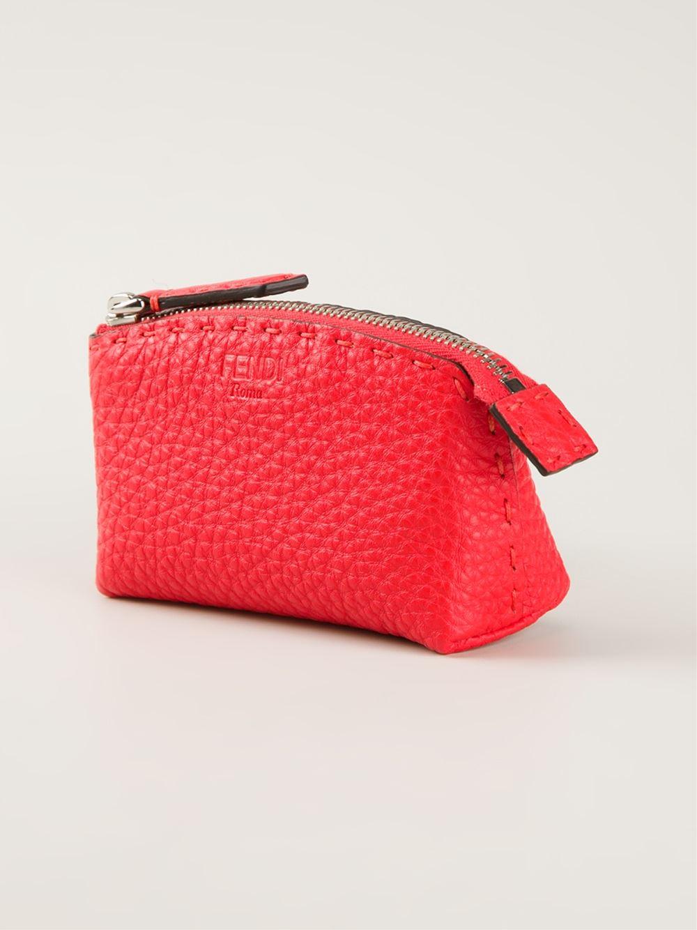 d8d6de01f43 ... australia lyst fendi selleria makeup bag in red e993a 600a6