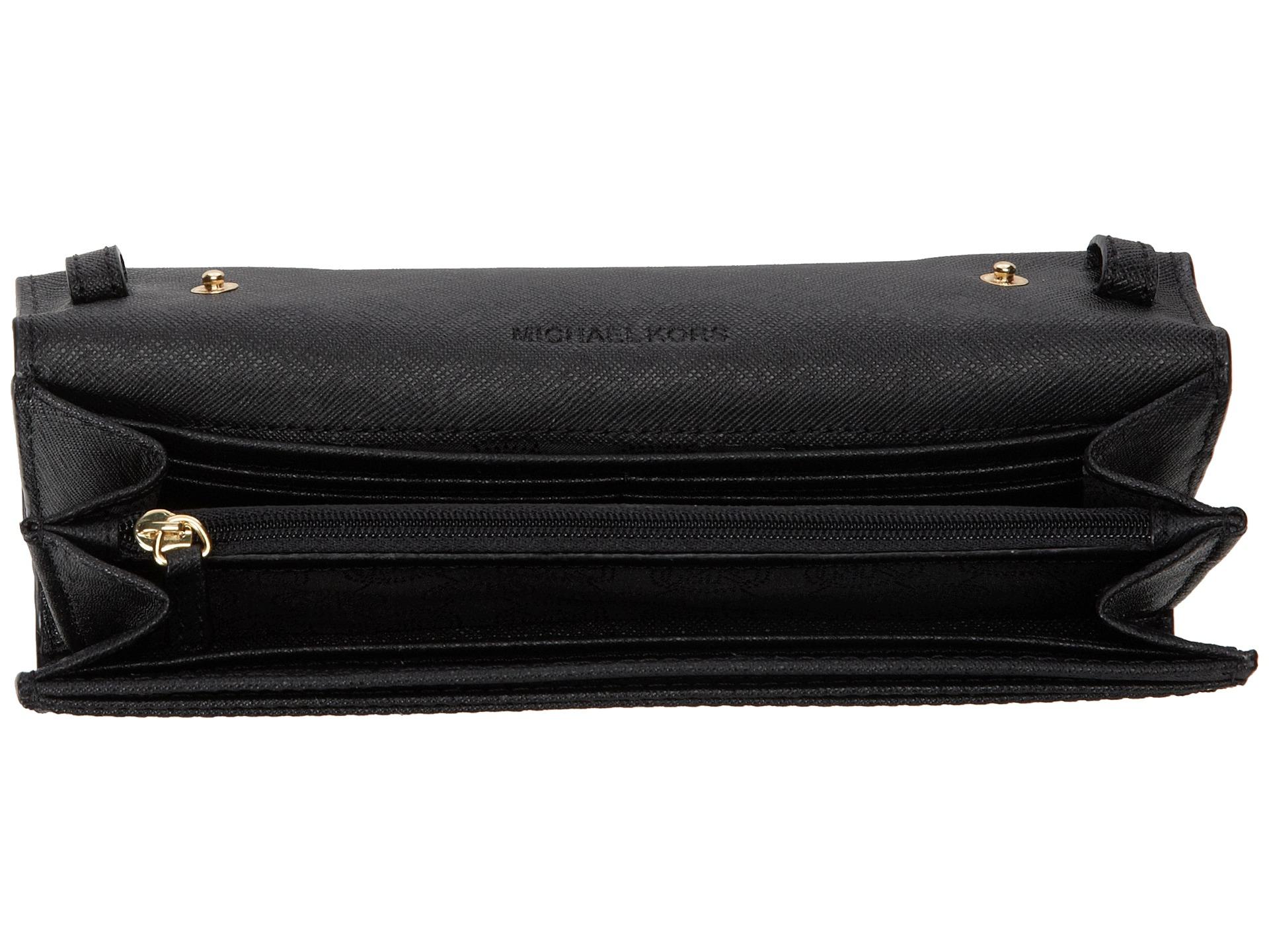 c0f9a50098cd Michael Kors Jet Set Travel Wallet On A Chain Black - Best Photo ...