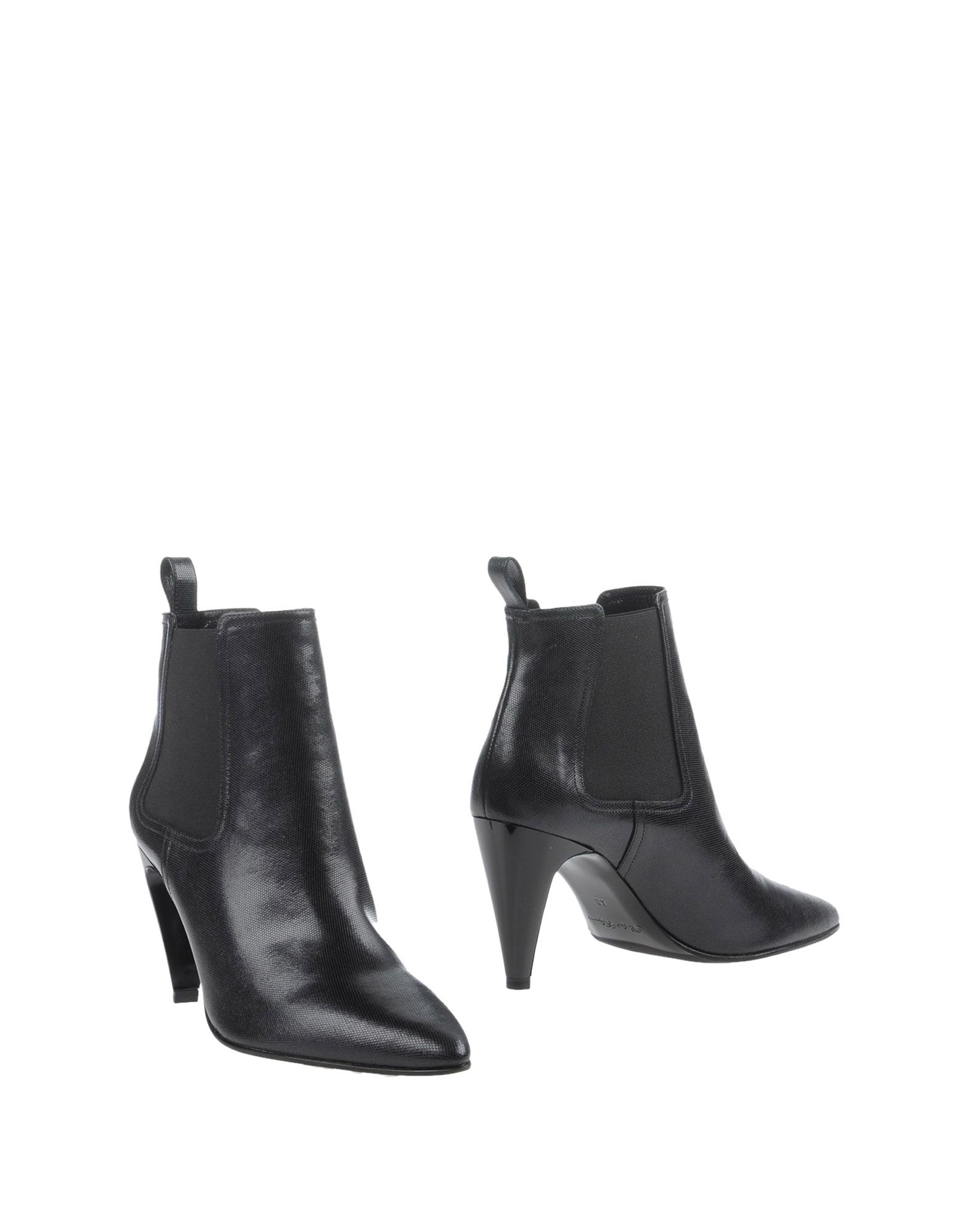 robert clergerie ankle boots in black lyst