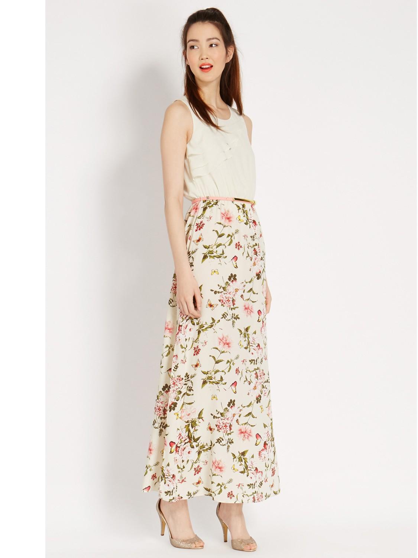 Floral empire waist maxi dress by la redoute