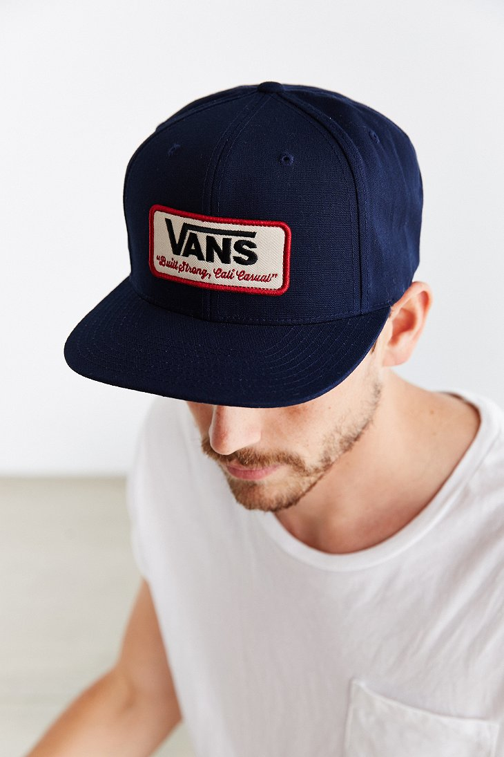 Lyst - Vans Rowley Snapback Hat in Blue for Men 26459b11009