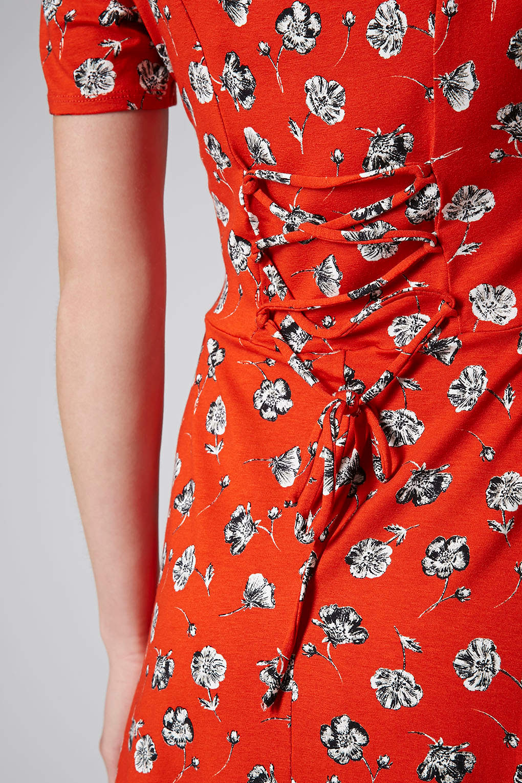Lyst Topshop Tall Pansy Floral Dress In Red