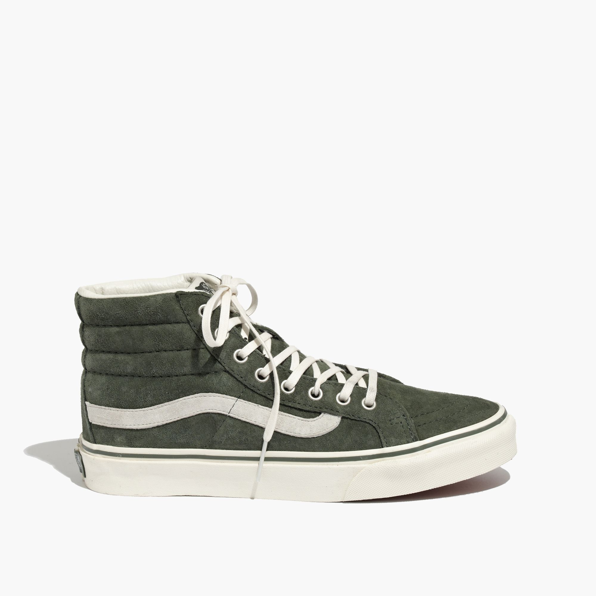6ce2d36c513163 Madewell Vans Reg  Sk8-Hi Slim High-Tops In Suede in Green - Lyst