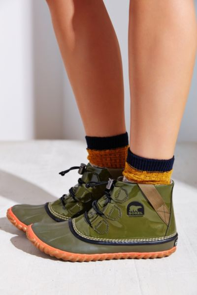 Lyst Sorel Out N About Glow Boot In Green