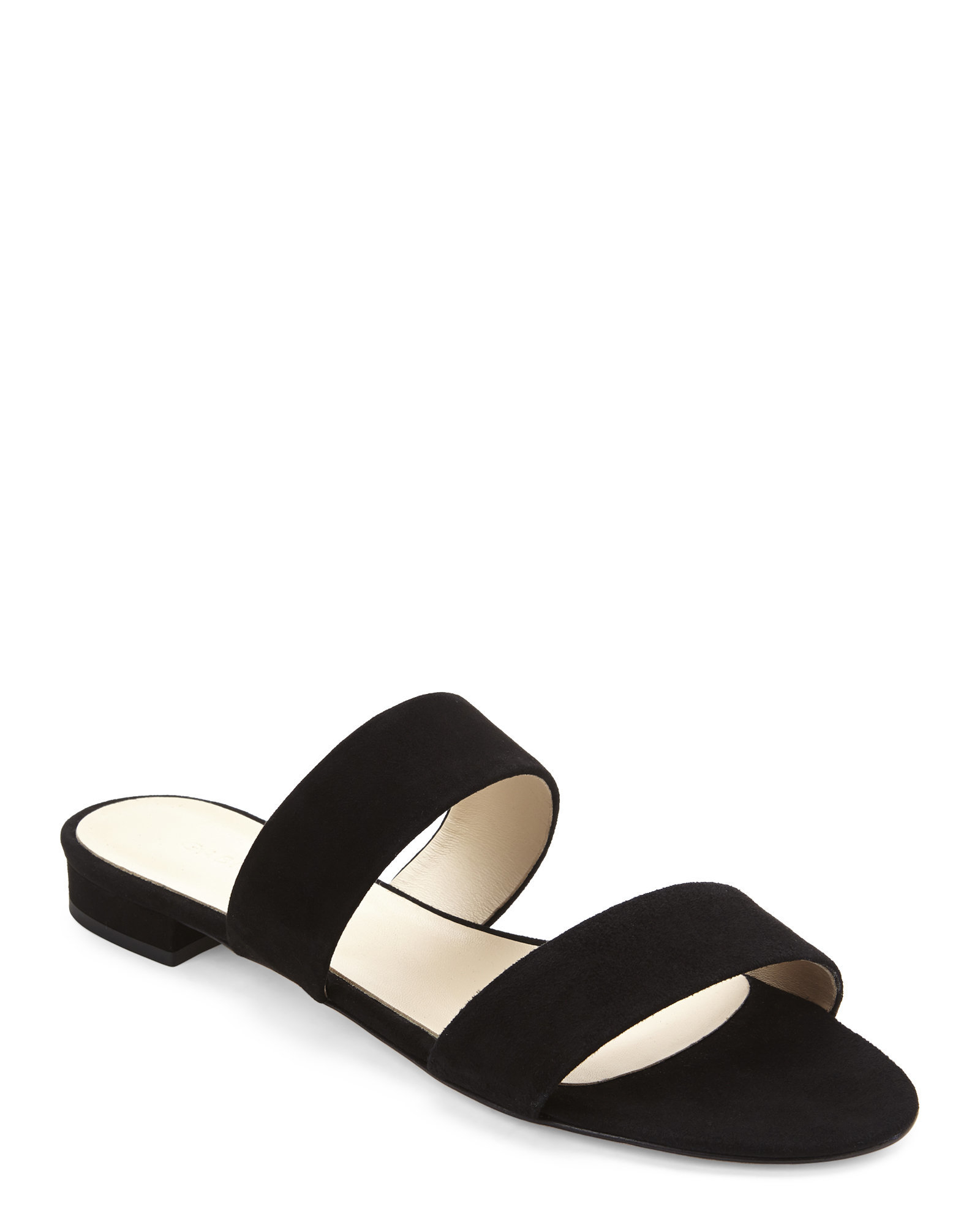4e23fd558e2613 Lyst - Gabriella Black Two-Strap Flat Sandals in Black
