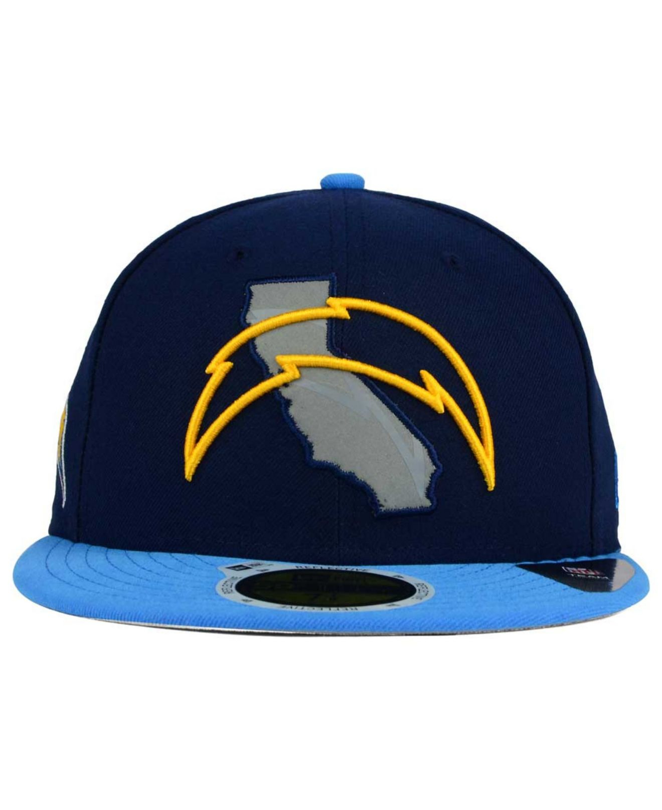 San Diego Chargers Blue: Ktz San Diego Chargers State Flective Redux 59fifty Cap In