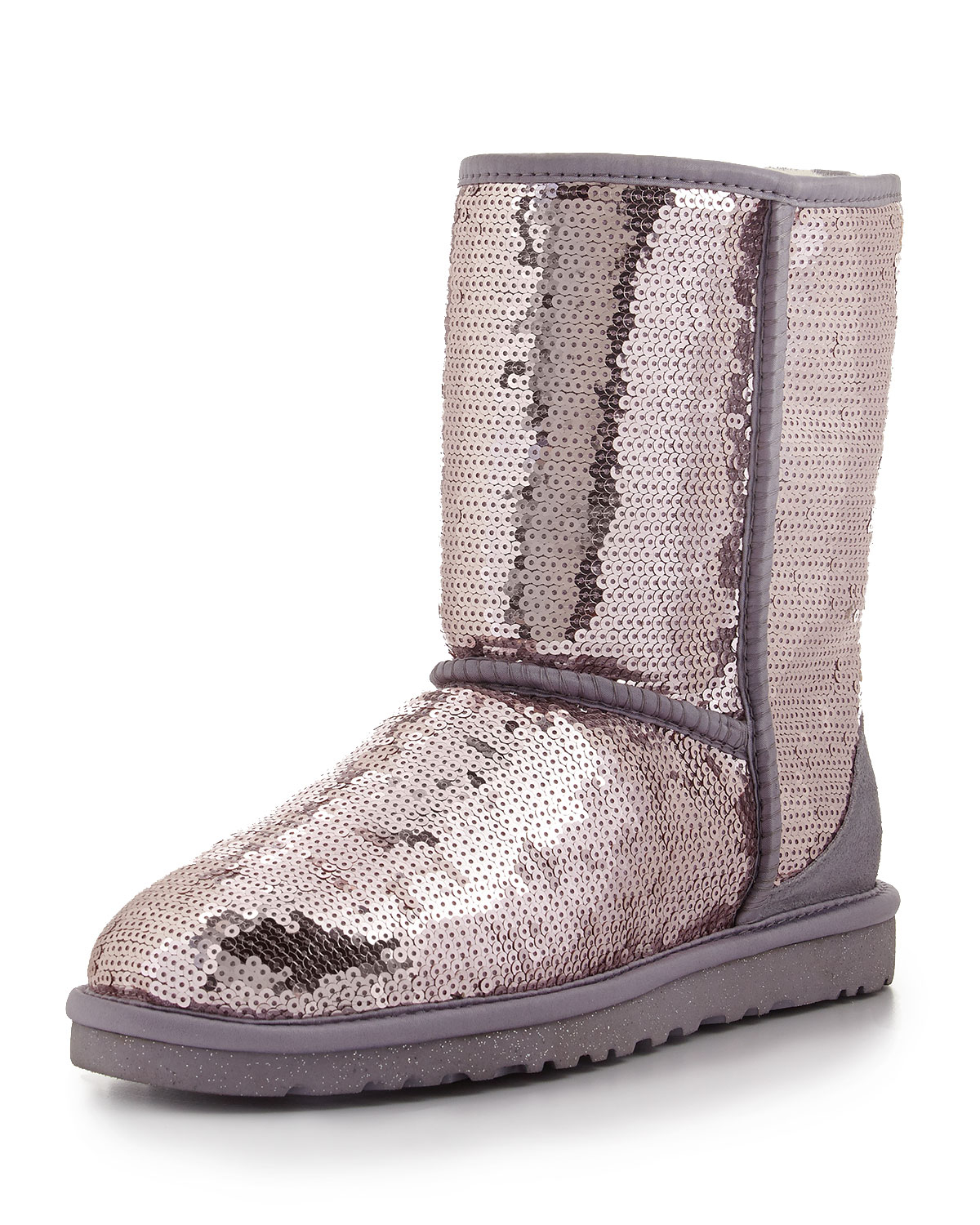 ugg sparkles sequin boot in purple heathered lilac