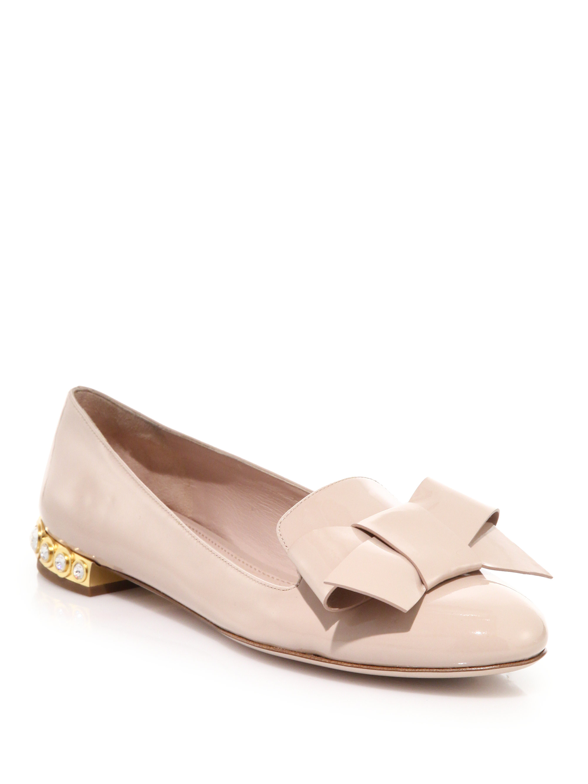Miu Miu Leather Jeweled Flats outlet huge surprise clearance marketable outlet fashionable v3tXUILd1T