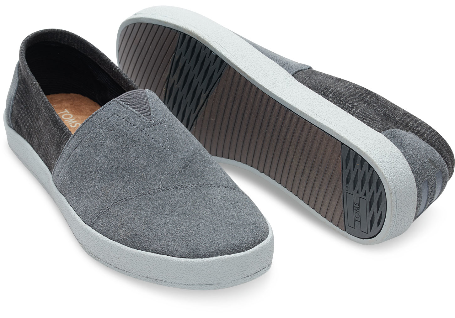 TOMS - Gray Castlerock Grey Suede And Plaid Men s Avalon Slip-ons for Men - a6902667fd