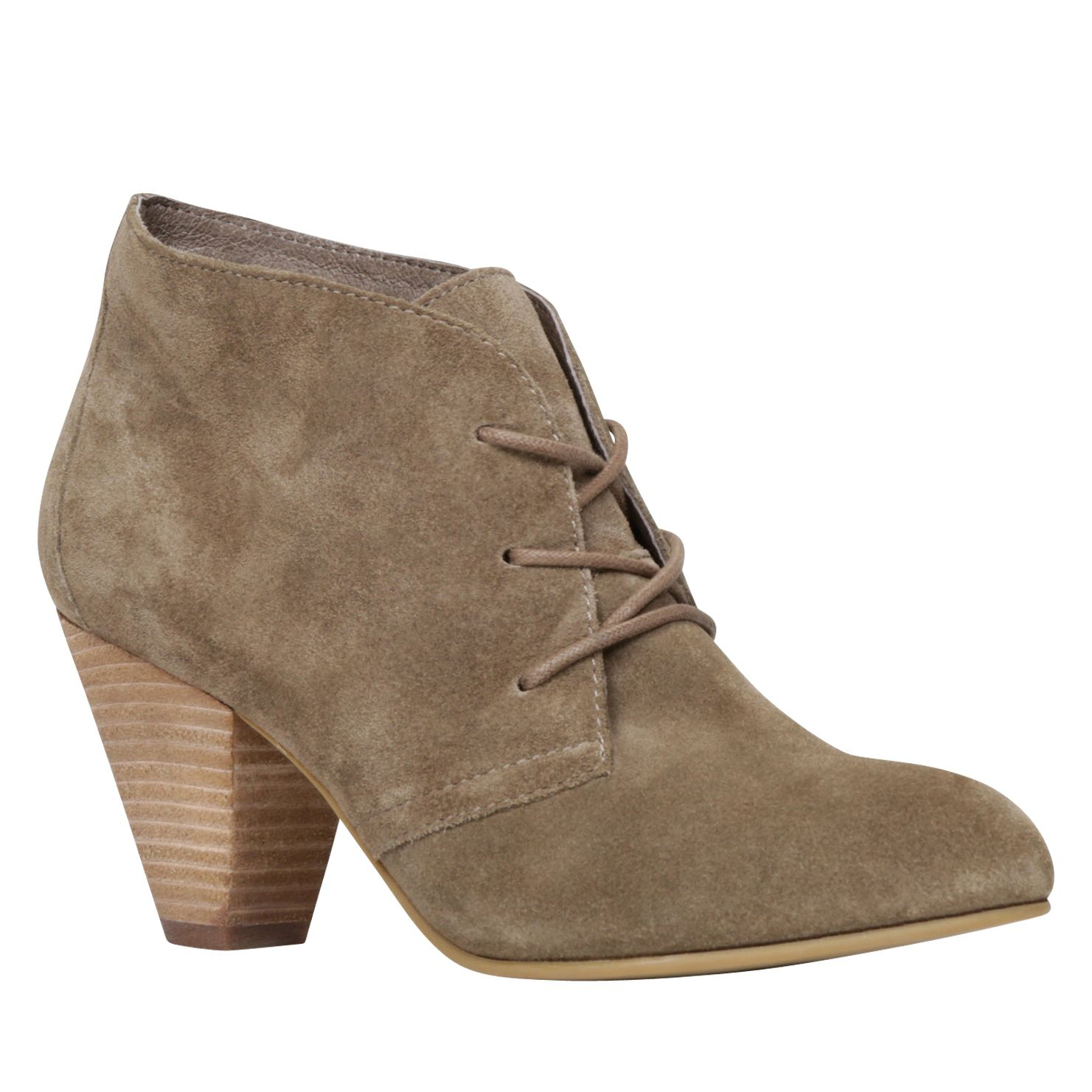 Lace Up Ankle Boots With Block Heel