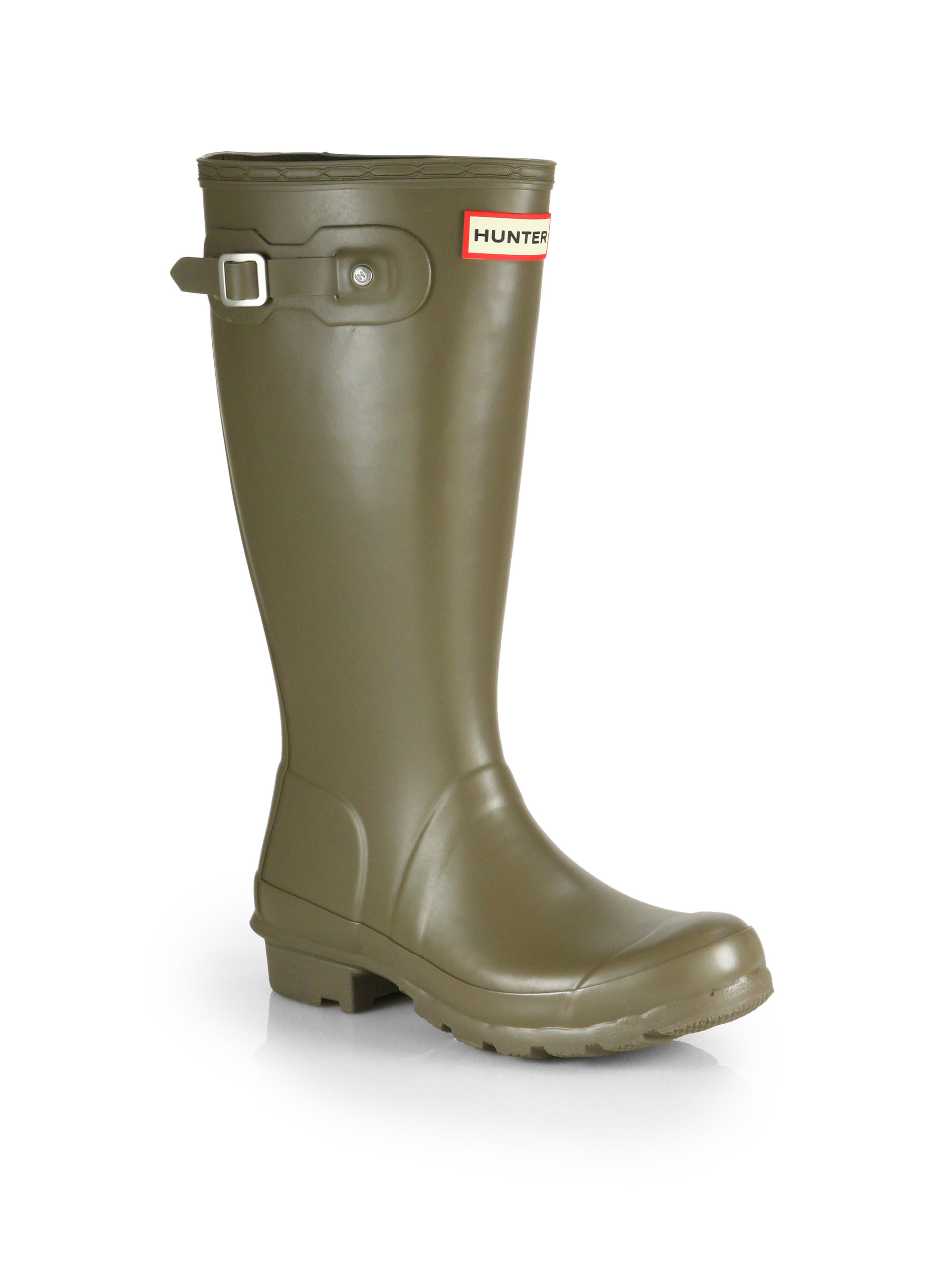 Hunter Kids Original Tall Rain Boots in Green for Men | Lyst