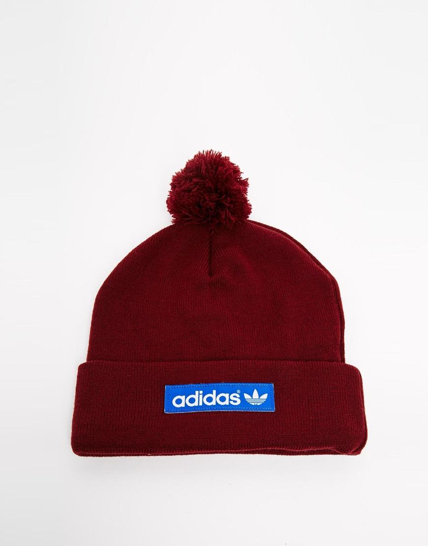 Adidas Originals Logo Bobble Hat M30723 in Red for Men - Lyst 9f24dc10124