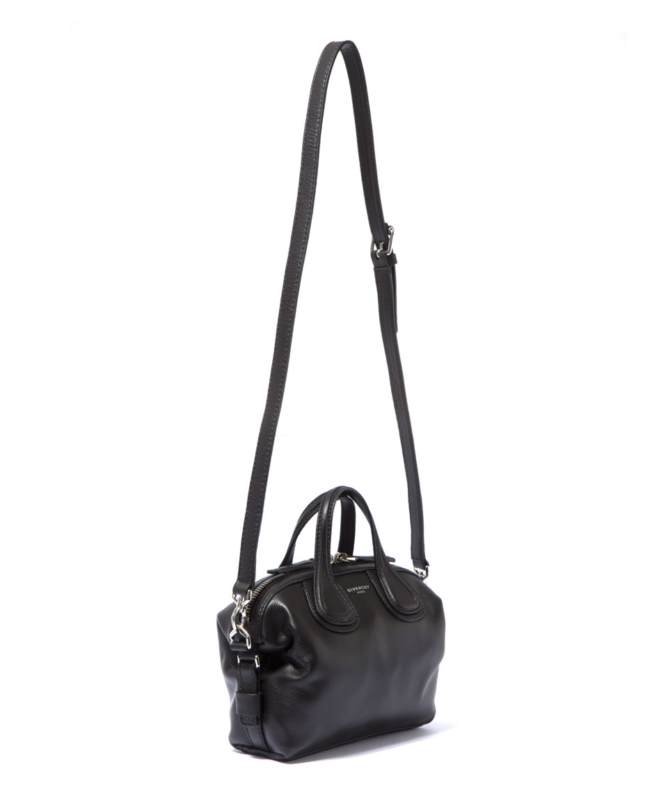 fba13303ff54 Givenchy Micro Black Nightingale Waxed Leather Bag in Black - Lyst