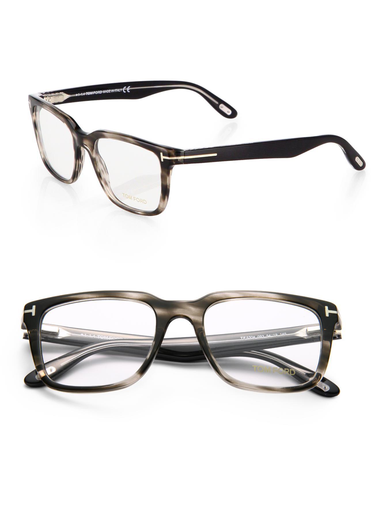 Lyst - Tom Ford Square Optical Frames in Gray for Men