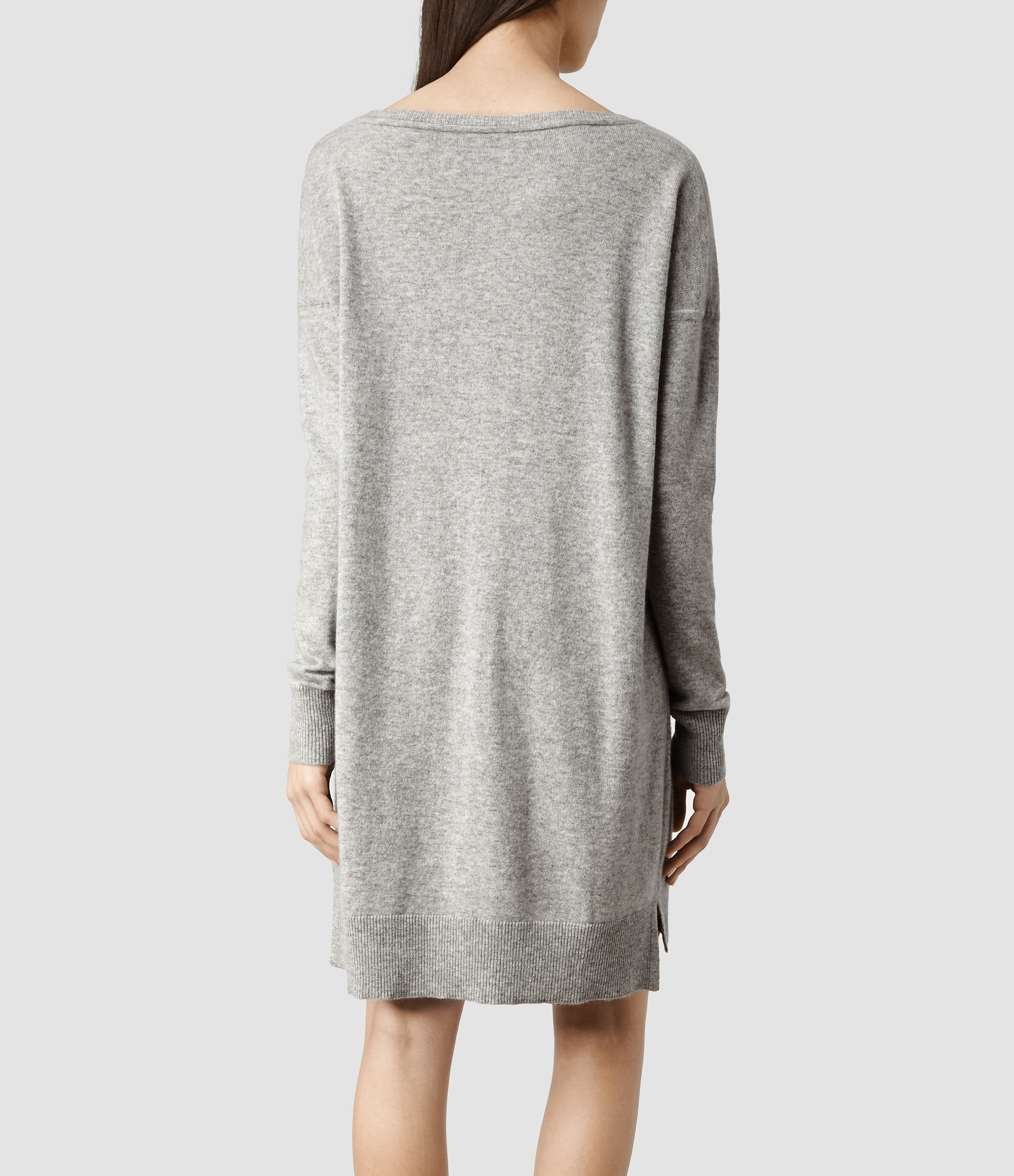 Allsaints Char Cashmere Sweater Dress In Gray Lyst