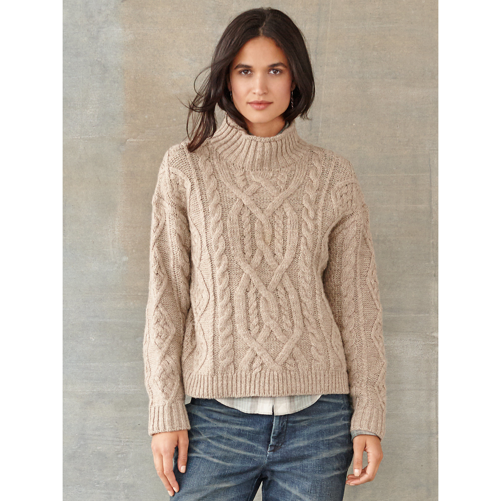 9e767208414e6f Lyst - RRL Tessa Cable-knit Wool Sweater in Natural