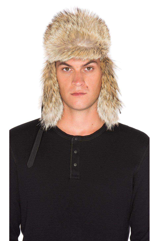 Canada Goose vest online fake - Canada goose Aviator Coyote Fur Trim Hat in Black for Men | Lyst