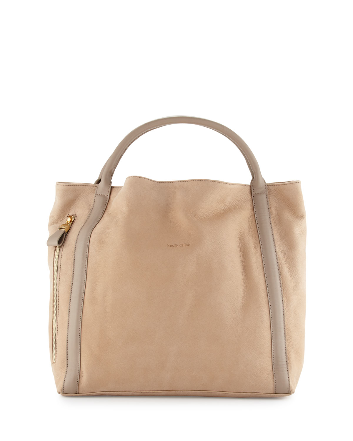 e2cedbf96e ... save off 4b094 2b0ef Lyst - See By Chloé Harriet Leather Hobo Tote Bag  in Brown ...