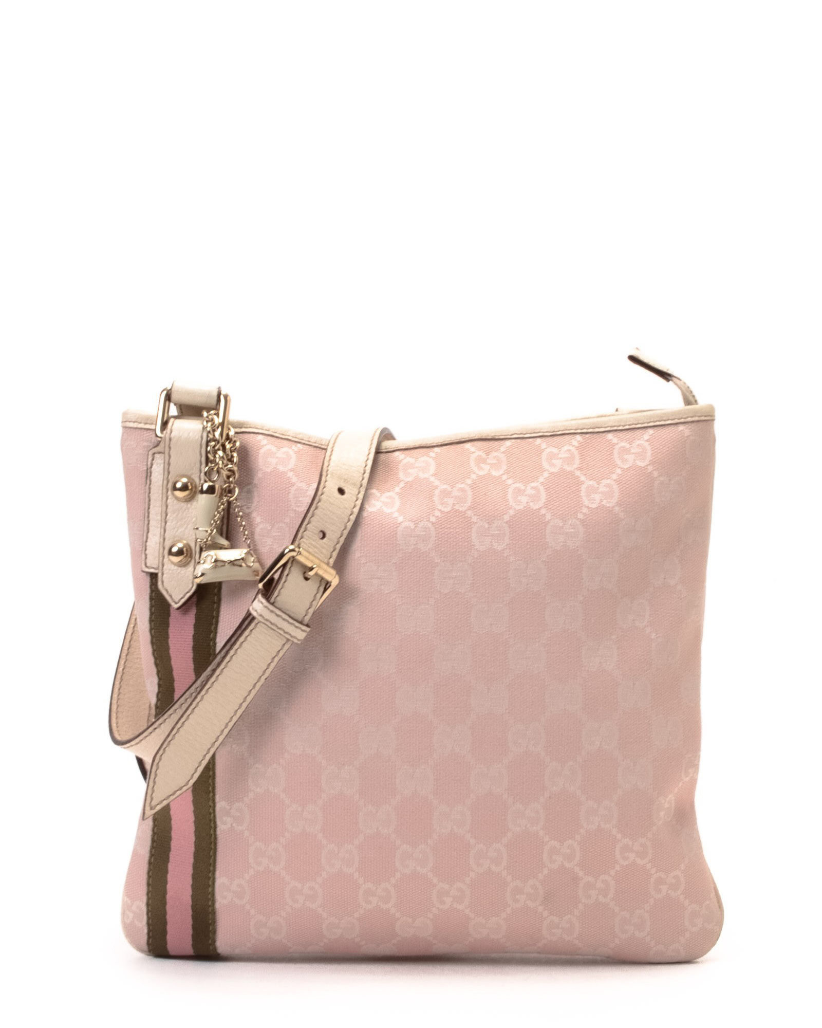 d4f4b5552ea0 Lyst - Gucci Pink Messenger Bag in Pink