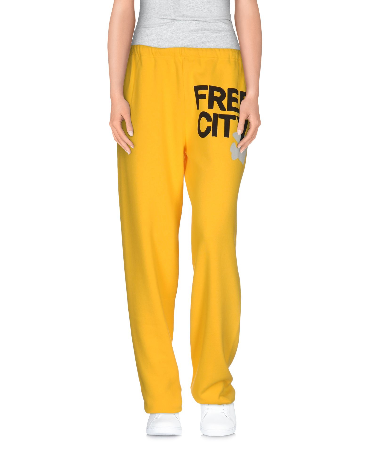 free city casual trouser in orange lyst