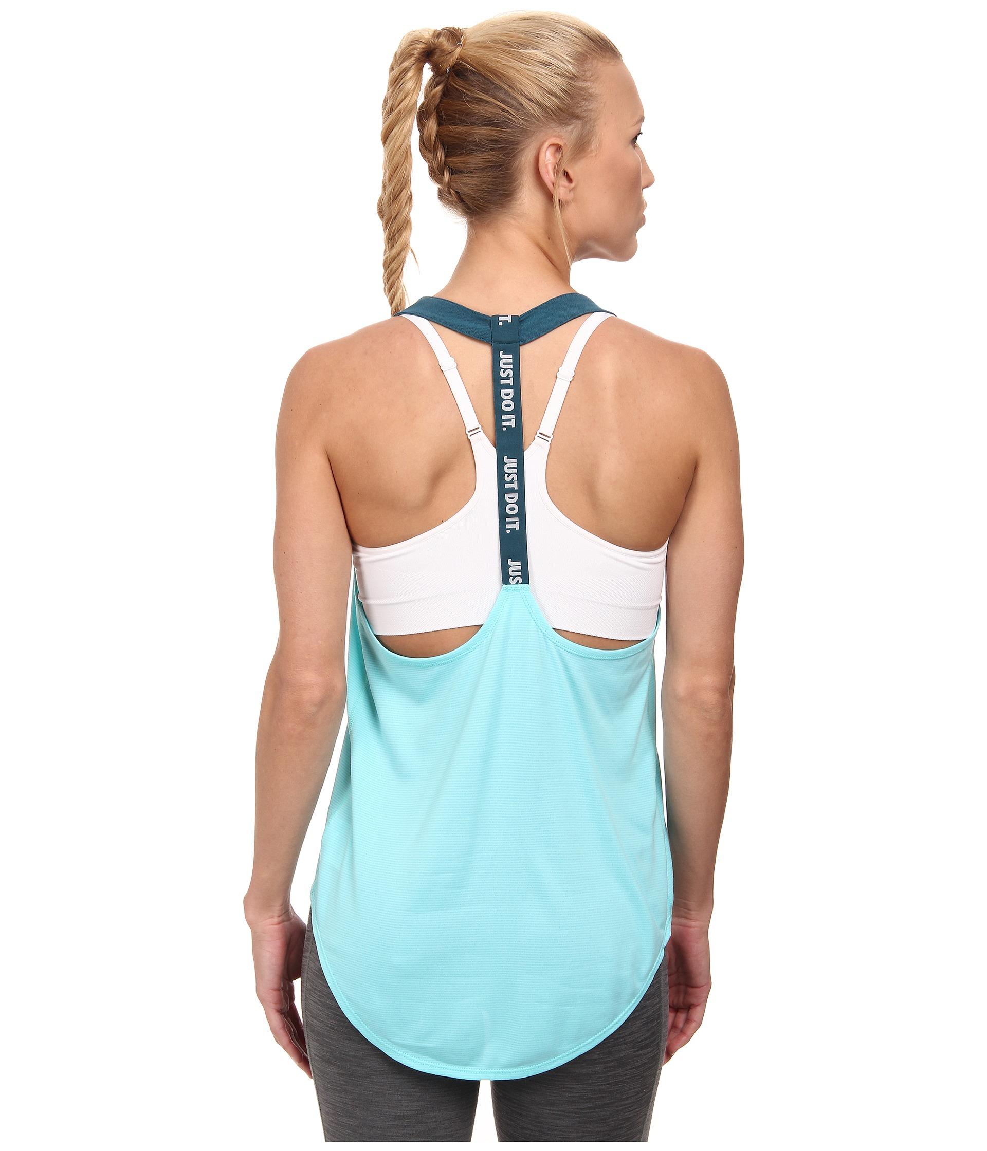 13d0e7054f Nike Dri-Fit™ Elastika Tank Top in Blue - Lyst